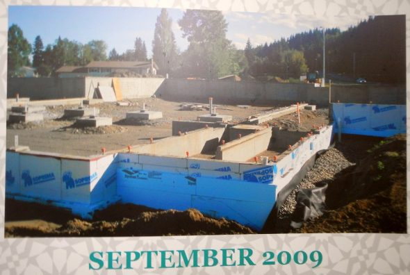 03 - Prince George Islamic Centre - Construction Foundation - September 2009