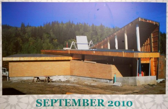 05 - Prince George Islamic Centre - Construction - September 2010