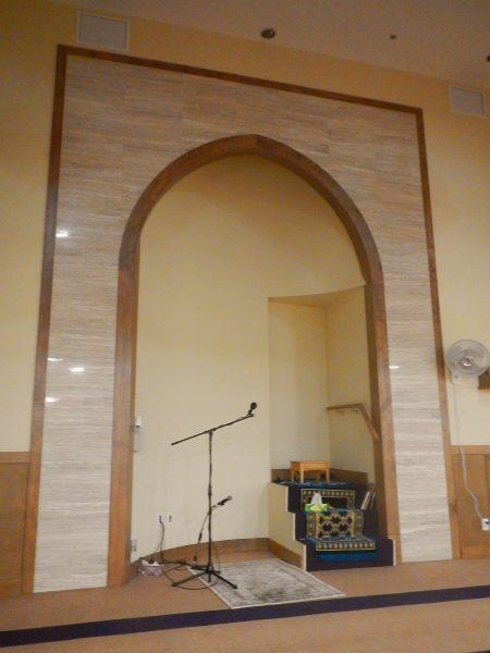 06 - Masjid al Iman - Mimbar INSIDE the Mihrab - Victoria British Columbia - July 4 2016