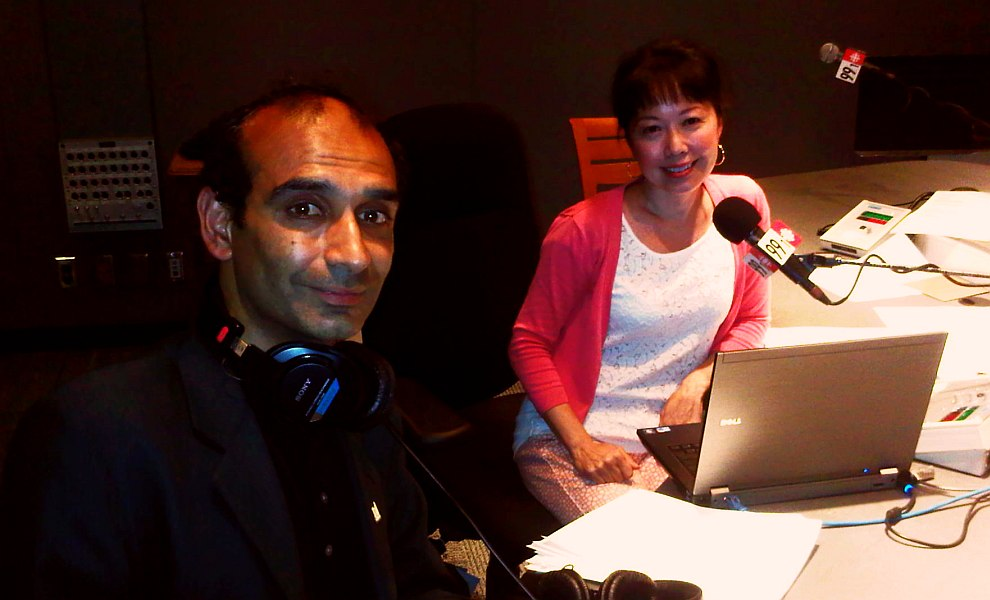 00 - HiMY SYeD with Mary Ito host of CBC Radio One Here and Now in Studio after Interview - Monday July 8 2013