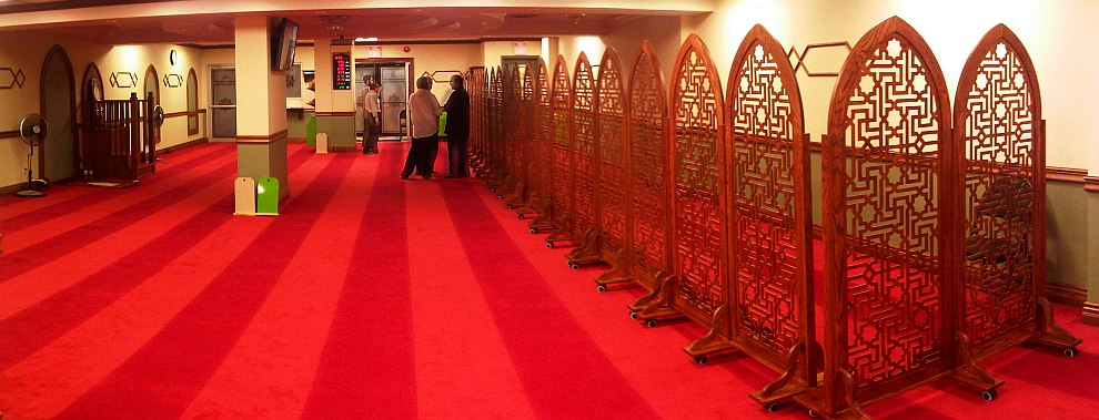 01 - Night 1 - Masjid Toronto at Adelaide beautiful crafted wooden divider Monday July 8 2013