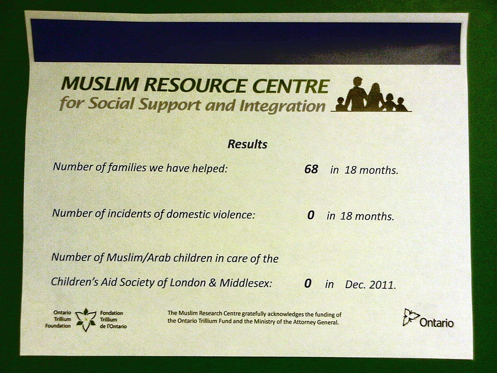 06 - Day 4 -Mohammed Baobaid – Muslim Resource Centre for Social Support and Integration - Results - Friday July 12 2013