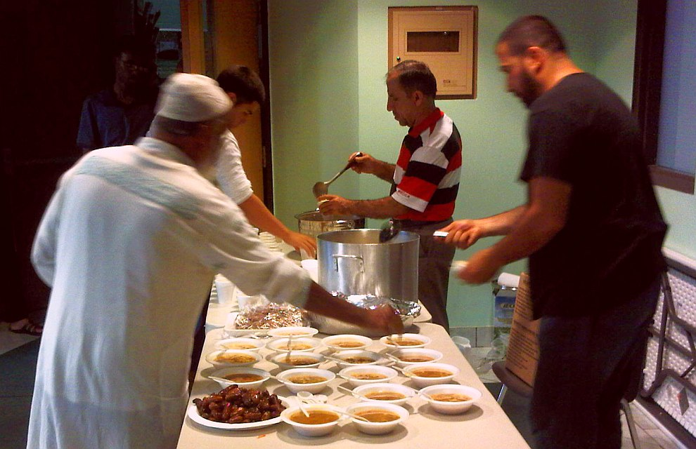 29 - Iftar in lobby of Windsor Islamic Association - July 16 2013