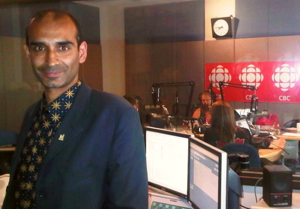 HiMY SYeD, CBC Ottawa Morning Control Room, after 30 Masjids Interview Segment - Wednesday July 31 2013