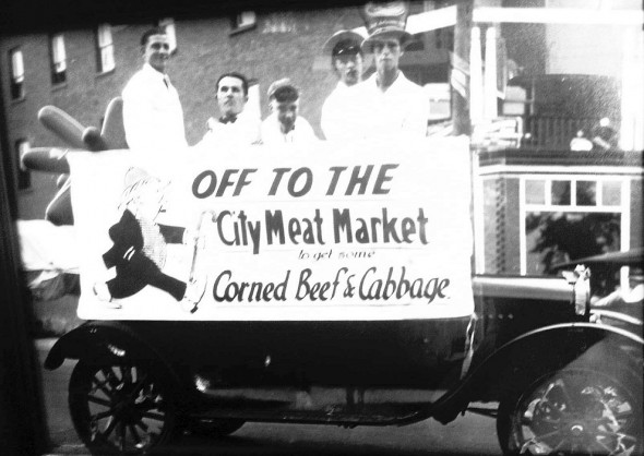 10-2 - Off to the meat market to get some beef and cabbage, city meat market, Thursday July 25 2013