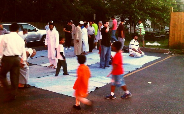 Adhan al Maghrib Outside for Brothers, Chatham - Saturday July 13 2013