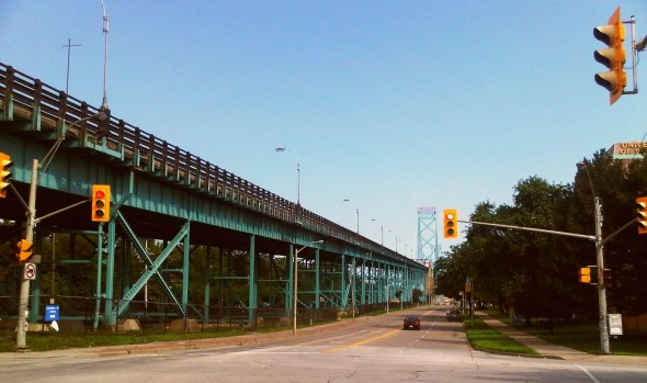 Ambassador Bridge and Huron Church Road, West Windsor - Saturday July 20 2013