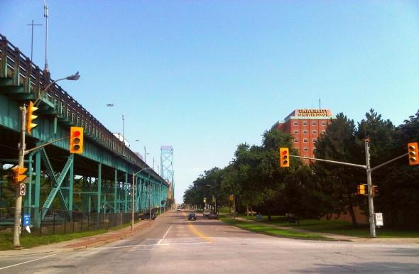 Ambassador Bridge at Huron Church Road, West Windsor - Saturday July 20 2013