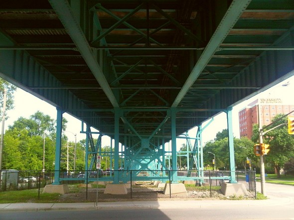 Ambassador Bridge pedestrian underpass, West Windsor - Saturday July 20 2013