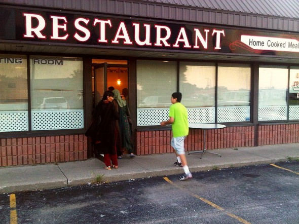 Brother running and arriving at Iftar Location Chatham - Saturday July 13 2013