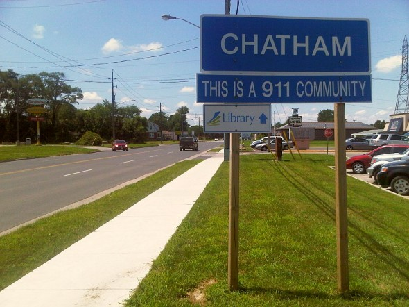 Chatham Sign - This is a 911 Community - Library - Saturday July 13 2013