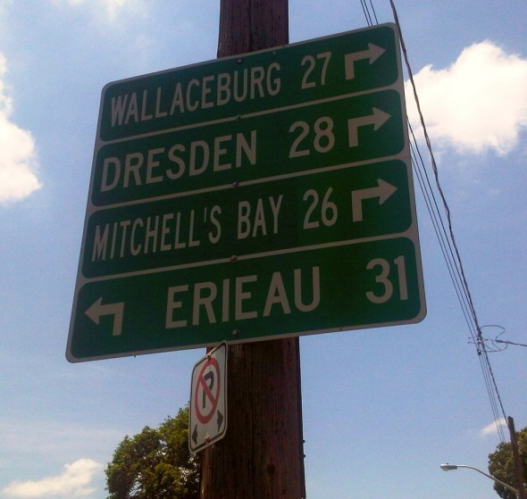 City Distance Direction Sign - Saturday July 13 2013