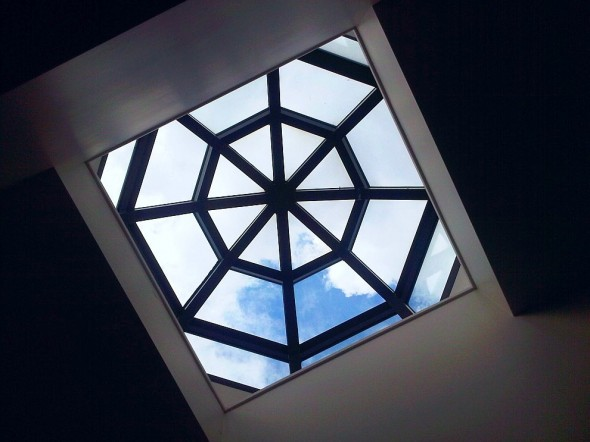 Glass Pane Skylight in shape of Dome - Islamic Association of Sudbury - Friday July 26 2013