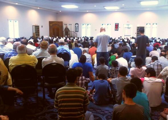 Jumah Prayer London Muslim Mosque - Friday July 12 2013