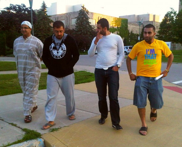 Khatab, Firas Kamal, Bourhan and Noori Hamidi at Western University Campus - Friday July 12 2013