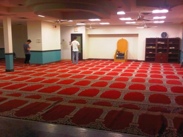 Masjid Toronto Main Prayer Hall Fajr Dawn Prayer time Tuesday July 9 2013