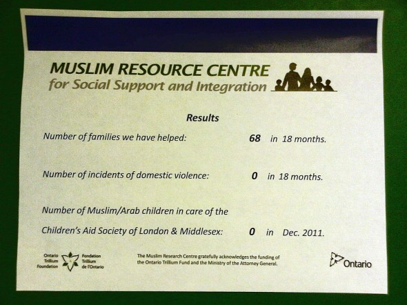 Mohammed Baobaid – Muslim Resource Centre for Social Support and Integration - Results - Friday July 12 2013