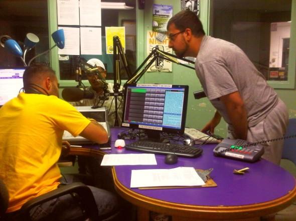 Muslims Live RAMADAN Radio control board - Western University's Campus Community Radio Station, London - Friday July 12 2013