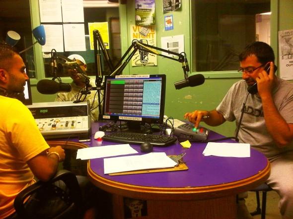 Muslims Live RAMADAN Radio working the phone - Western University's Campus Community Radio Station, London - Friday July 12 2013