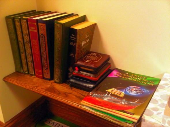 Night 1 - Masjid Toronto at Adelaide Qur'an bookshelf Monday July 8 2013
