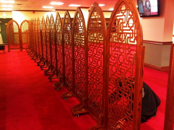 Night 1 - Masjid Toronto at Adelaide beautifully crafted wooden divider on wheels Monday July 8 2013