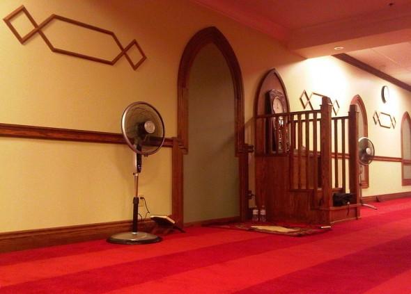 Night 1 - Masjid Toronto at Adelaide faux Mihrab and Mimbar Monday July 8 2013