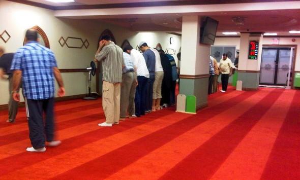 Night 1 - Masjid Toronto at Adelaide lining up for Isha Monday July 8 2013