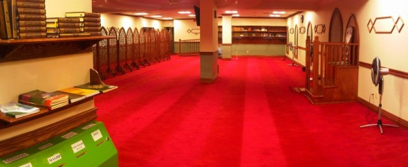 Night 1 - Masjid Toronto at Adelaide south east corner of prayer hall point of view Monday July 8 2013