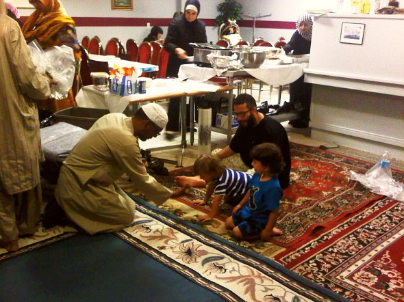 Playing with children after Iftar, Chatham - Saturday July 13 2013
