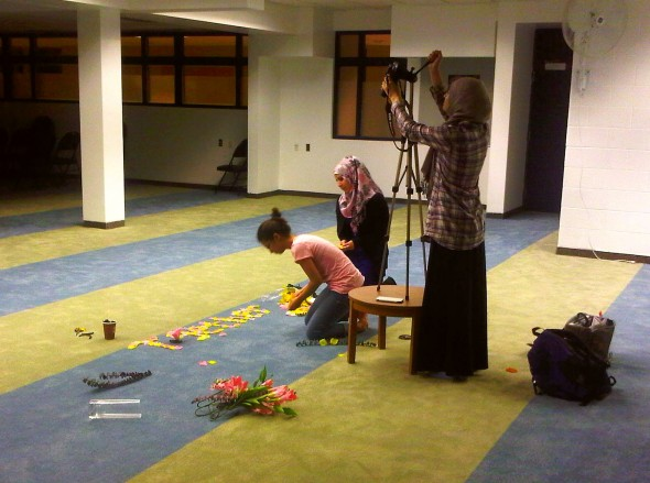 Together We Flourish stop motion video recording at Rose City Islamic Centre Monday July 15 2013