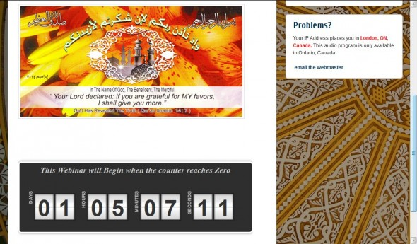 reflections on islam webinar countdown