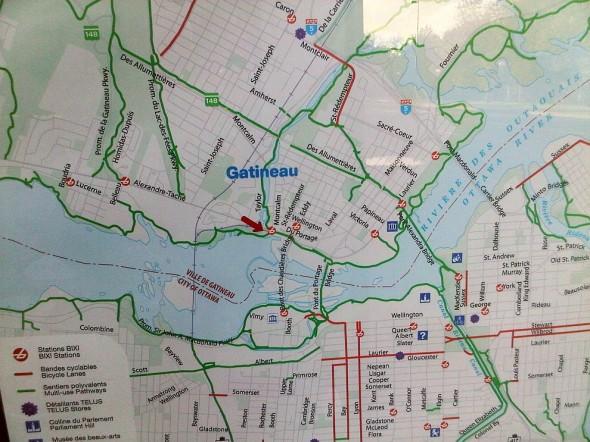 03 - Bixi Capital Bike Sharing Map, Hull Gatineau, Quebec - Tuesday July 30 2013