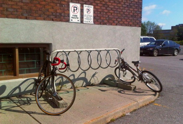 05 - Bicycle Parking, Bike Rack along south wall, Ottawa Main Mosque, Jumah Friday August 2 2013