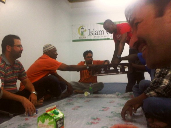 13 - Serving Iftar Dinner Plates, Islam Care Centre, Ottawa - Wednesday July 31 2013