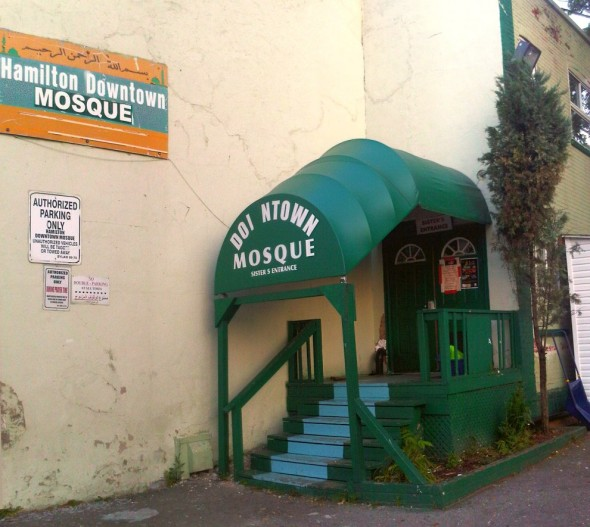 14 - Hamilton Downtown Mosque - Sisters Entrance - Wednesday August 7 2013