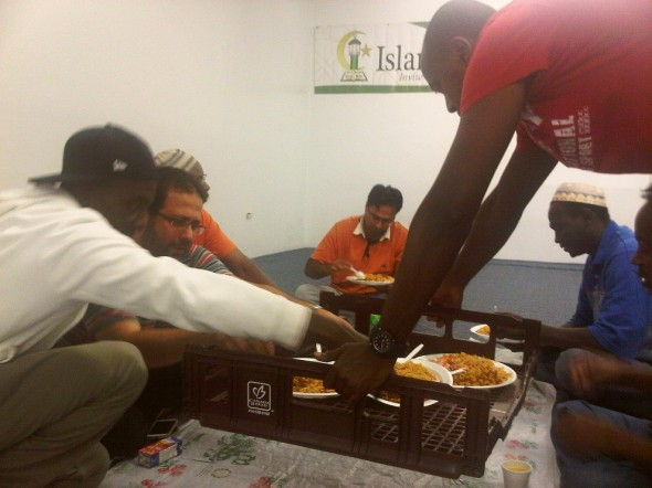 14 - Serving Iftar Dinner Plates, Islam Care Centre, Ottawa - Wednesday July 31 2013