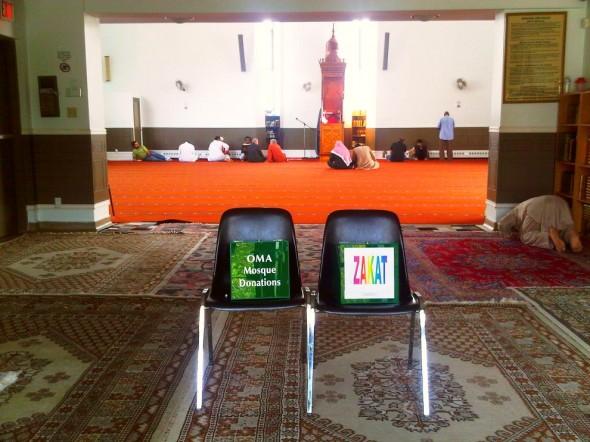 15 - Ottawa Mosque Donations, Zakat, boxes, Ottawa Main Mosque, Jumah Friday August 2 2013