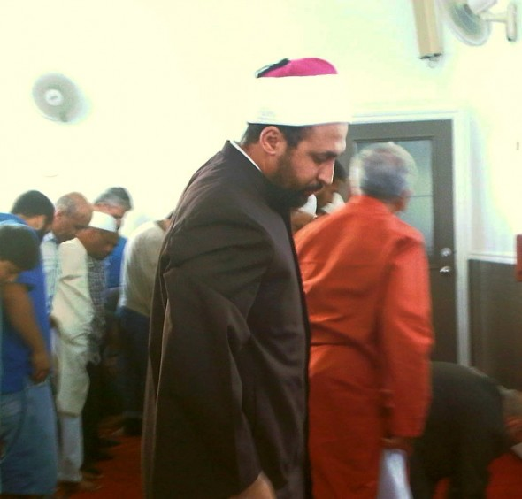 19 - Imam standing for Sunnah Prayers after another person delivered Khutbah, Ottawa Main Mosque, Jumah Friday August 2 2013