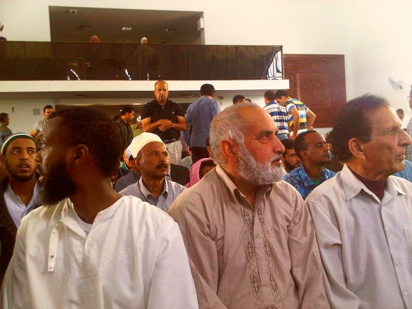 20 - Looking back in the Prayer Hall after Jumah Khutbah, Ottawa Main Mosque, Jumah Friday August 2 2013