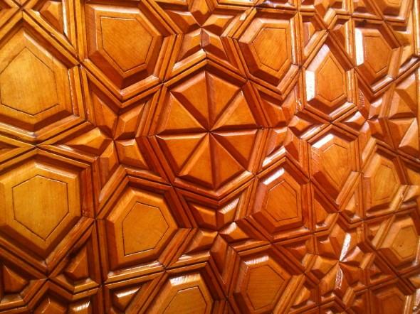 24 - Sacred Geometry, Carved Wooden Design work on wall Mimbar, Jumah Khutbah, Ottawa Main Mosque, Jumah Friday August 2 2013
