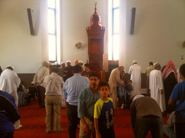 25 - Prayer Hall after Jumah Khutbah, Ottawa Main Mosque, Jumah Friday August 2 2013
