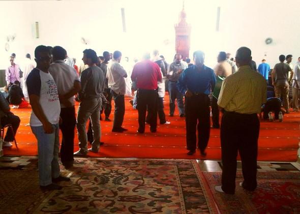 27 - Prayer Hall after Jumah Khutbah, Ottawa Main Mosque, Jumah Friday August 2 2013