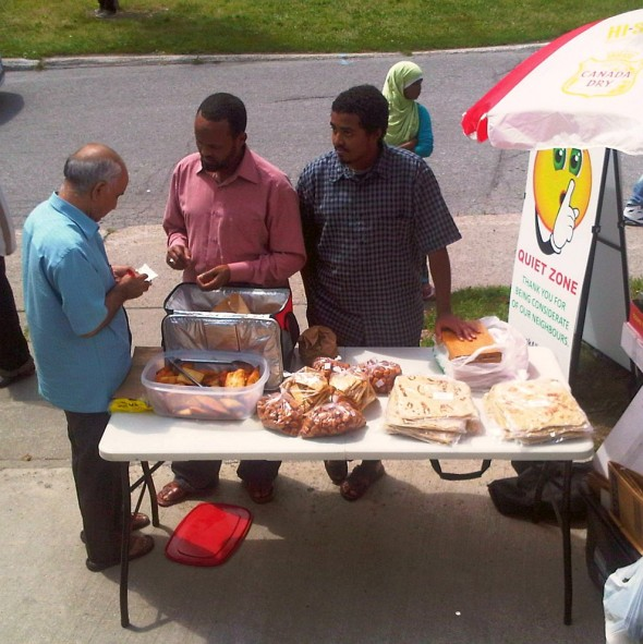 29 - Vending after Jumah Prayers, Ottawa Main Mosque, Jumah Friday August 2 2013