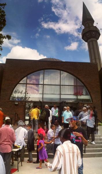 31 - Front Steps after Prayers, Ottawa Main Mosque, Jumah Friday August 2 2013