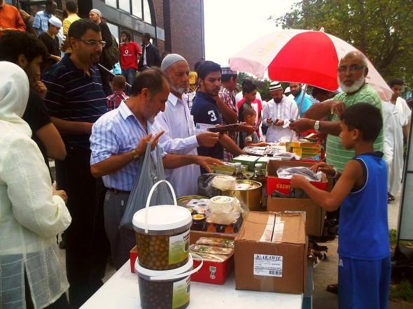 31 - Vending after Jumah Prayers, Ottawa Main Mosque, Jumah Friday August 2 2013