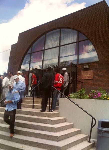 36 - Front Steps after Jumah Prayers, Ottawa Main Mosque, Jumah Friday August 2 2013