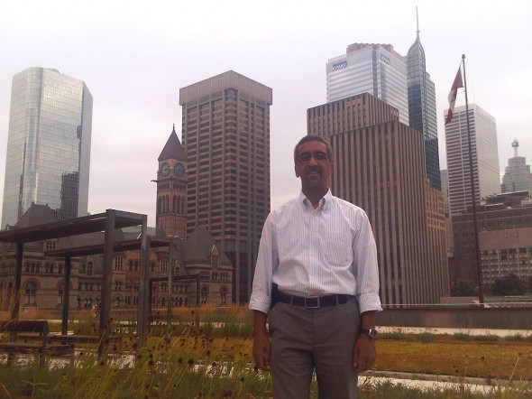 Ziyaad Mia, Creator and Project Coordinator of Give30, Toronto City Hall Green Roof, Wednesday August 7 2013