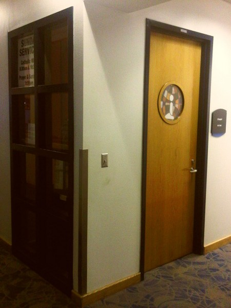 Charlotte Douglas Airport Chapel front door 2014-03-16-49213