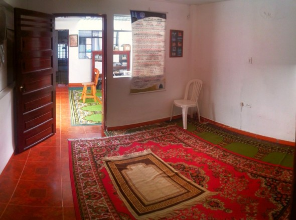 Sisters Room inside the Only Masjid in Medellin Colombia after Jumah Prayers Friday March 28 2014