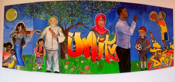 Unity Mural by The Spot inside Yorkgate Mall at Jane and Finch